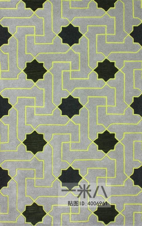 客厅浅灰色几何纹理地毯贴图素材-【模型id:4006961】