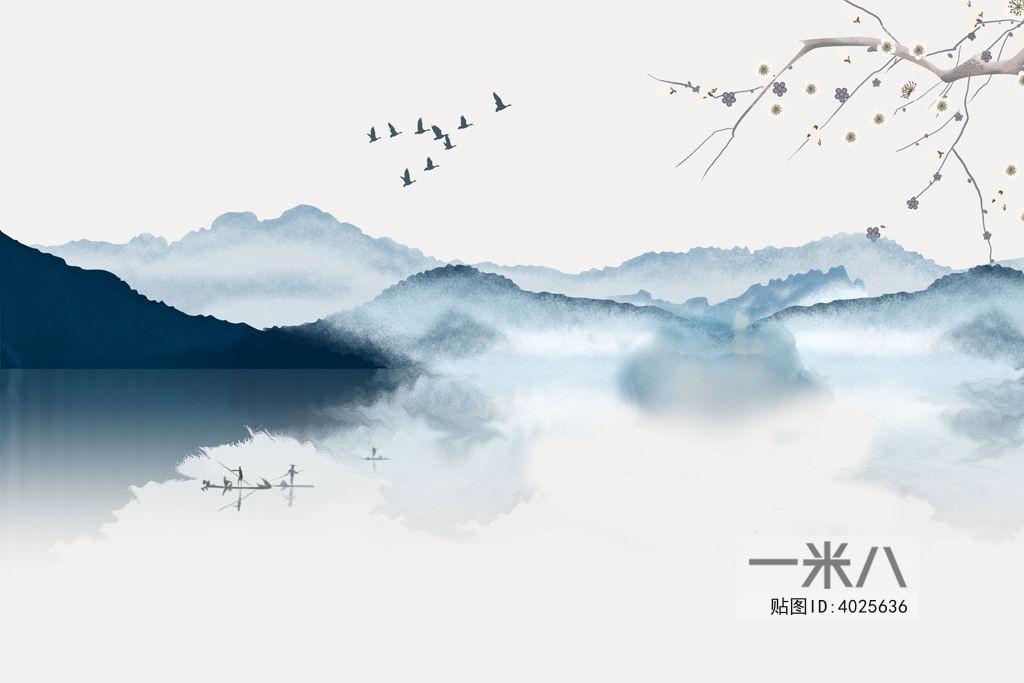 新中式装饰画3D模型下载