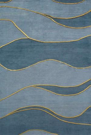 现代风格浅蓝色水纹图案地毯贴图-ID:4001729