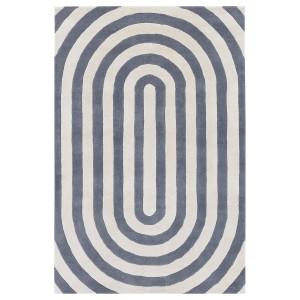 现代抽象几何图案地毯-ID:4001754