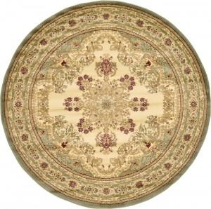 圆形古典欧式地毯-ID:4003297
