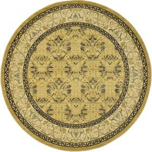 圆形古典欧式地毯-ID:4004404