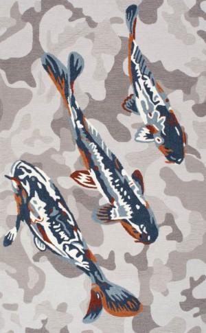 新中式风格鱼图案地毯贴图-ID:4005413