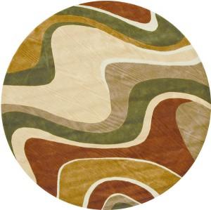 圆形地毯-ID:4006415