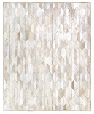 灰棕色几何图形拼接牛皮地毯贴图-ID:4008593