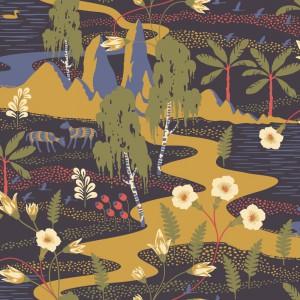 田园花纹壁纸-ID:4017002