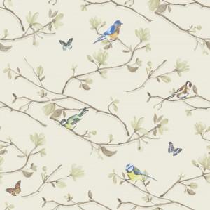 田园花纹壁纸-ID:4018084