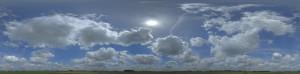 全景天空-蓝天多云3D模型